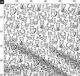 Katzen, Streifen, Süße Tiere, Katze, Geometrisch Stoffe -
