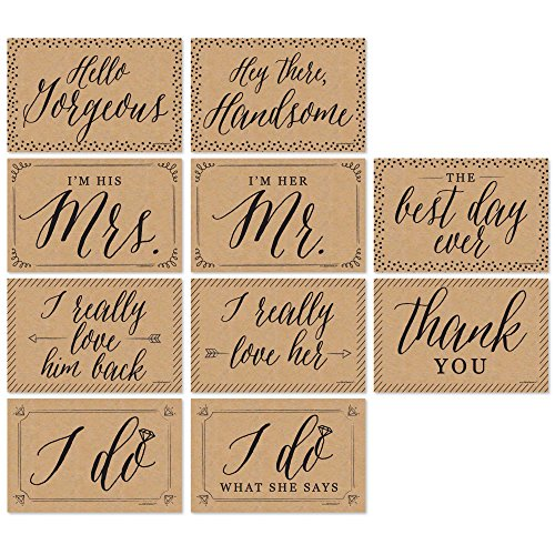 Big Dot of Happiness Wedding - Announcement Photo Prop Kit - 10 Count