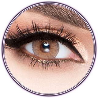 Luminous Latin Brown Contact Lenses, Unisex Luminous Cosmetic Contact Lenses, Yearly Disposable, Latin Brown Color
