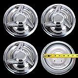 JDM WORLD 4 New Chevy GM 3 Bar Spinners Rally Wheel Center Hub Caps Rim 5 Lug Nut Covers 14x6,14x7,15x6,15x7,15x8 Rally Wheels