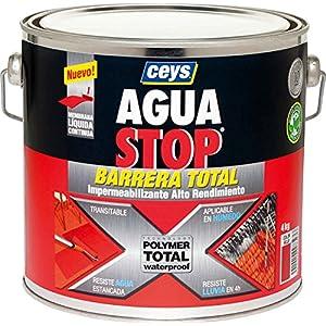 Ceys M276230 – Impermeabilizante aguastop barrera total gris 4 kg