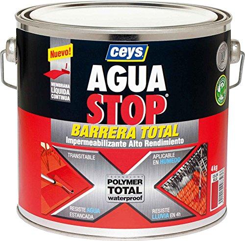 Ceys M276229 - Impermeabilizante aguastop barrera total rojo 4 kg