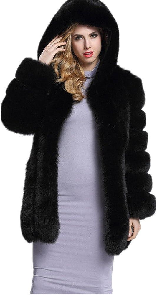 Special sale item Lisa Colly Women's Warm In stock Winter Hood Coat Long Faux Vest Fur