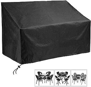 WHAIYAN Garden Furniture Cover Black Outdoor Garden Workbench Dust-Proof Rainproof Rectangle, 3 Sizes (Color : Black, Size : 163×66×89cm)