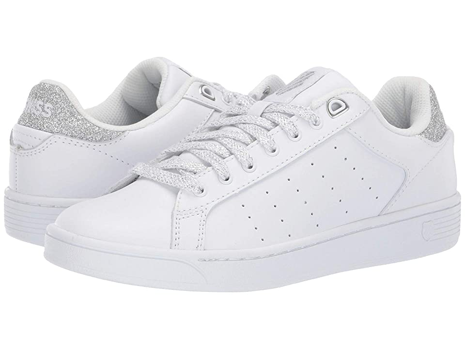 K-Swiss Clean Court CMF (White/Silver Glitter) Women