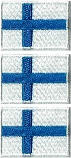 フィンランド国旗ワッペン ミニ SS-3枚セット