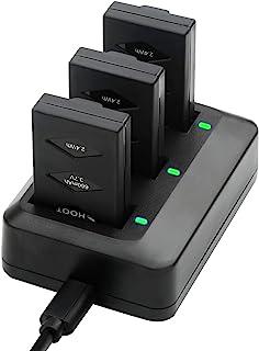 SHOOT 3pcs 3.7v 660mAh LiPo Set di Batterie per Parrot Mini Drone Rolling Spider e Jump Sumo + 1pc Rapid 3 Port Charger Pl...