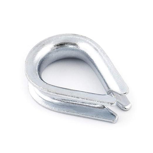 10x 4mm Kauschen verzinkt Kausche Drahtseil Seil Draht Seilöse Öse