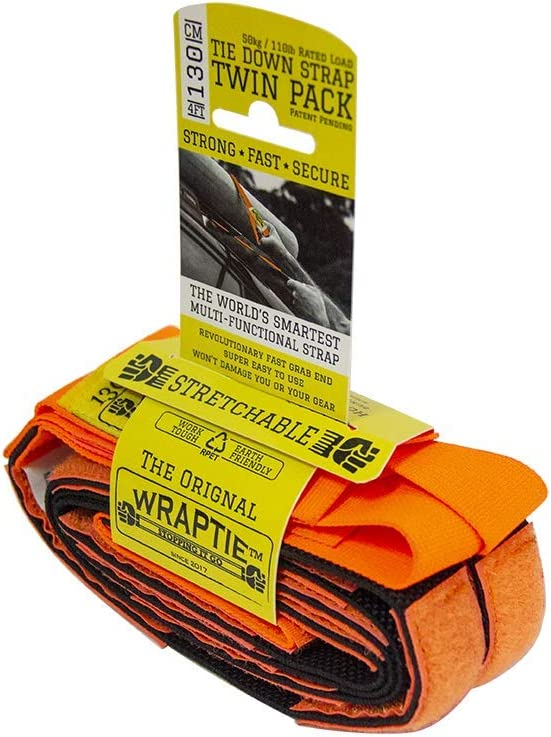 WRAPTIE Quick Tie Down Straps 4 Two ft Set of 店舗 限定Special Price