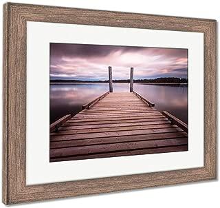 Ashley Framed Prints Comox Lake Vancouver Island, Wall Art Home Decoration, Color, 30x35 (Frame Size), Rustic Barn Wood Frame, AG5988163