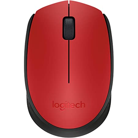 Logitech M171 Ratón Inalámbrico, 2,4 GHz con Nano Receptor USB, Seguimiento Óptico, Batería 12 Meses, Ambidiestro, PC/Mac/Portátil, Rojo