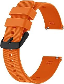 BISONSTRAP Bracelet de Montre 18mm 19mm 20mm 21mm 22mm, Bracelets de Montre en Silicone à Dégagement Rapide pour Hommes Fe...