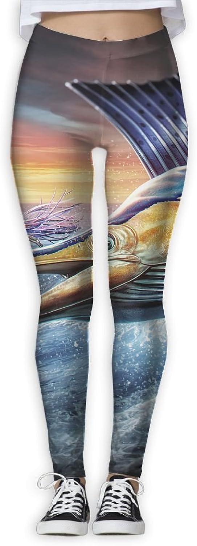 EWDVqqq Girl Yoga Pant Cool Flying Sailfish High Waist Fitness Workout Leggings Pants