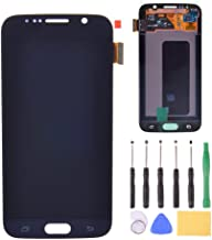 LCD Display Touch Screen Digitizer Assembly Replacement with Tools for Samsung Galaxy S6 G920 G920A G920i G920T G920F G9200 (Black)