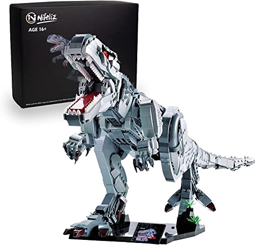 new arrival Nifeliz wholesale Indominus rex Dinosaur MOC Model Building Blocks Kits - Construction Set to Build, Model Set and Assembly Toy for Teens and Adult,Makes a sale Great Gift for People who Like Creative Play (2108Pcs) outlet sale