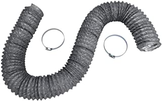 Dryer Vent Hose Transition Duct 4 inches - 2 Premium Screw Clamp Connections - Extra Strong Aluminum Interior and Flexible Tear Resistant PVC Outer Shell - HVAC or Grow Room Heat Ventilation