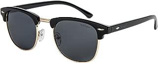 Dollger Classic Square Half Frame Sunglasses Mens Horn Rimmed Glasses for UV Eye Protection