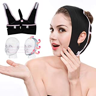 Face Shaper Face Mask Slimmer, Face Chin Neck Lift Up Belt Face Chin Compression Strap Facial Band Anti Wrinkle for Sleeping