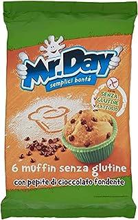 Mr. Day Muffin con Pepite di Cioccolato Fondente senza Glutine, 252g
