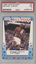 Michael Jordan PSA GRADED 7 (Basketball Card) 1989-90 Fleer - All-Stars Stickers #3