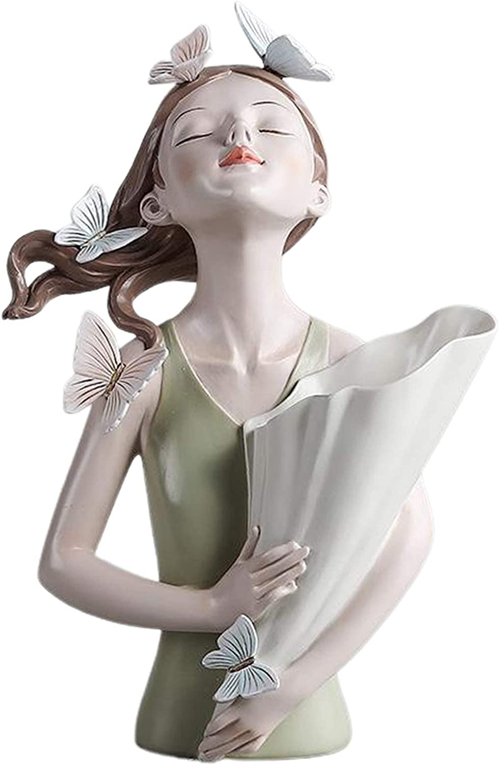 FLAMEER Decorative Resin Vase Tulsa Mall Cute Fairy Figurin Girl 2021 autumn and winter new Butterfly
