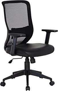 VECELO Home Office Chair for Task/Desk Work-Black