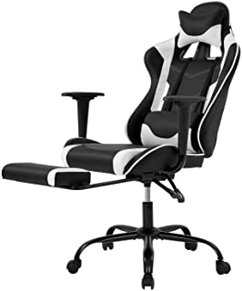 Racing Gaming Chair, High-Back PU Leather Home Office Chair Desk Computer Chair Ergonomic Executive Swivel Rolling Chair w...