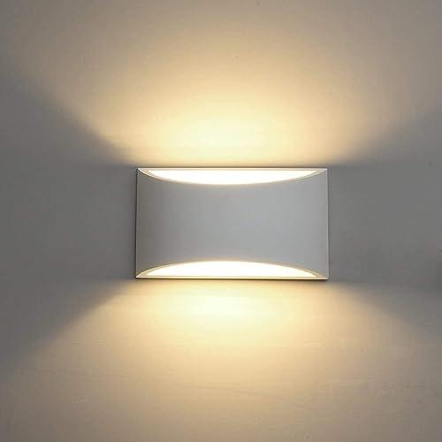 DECKEY Lámpara de Pared de Cerámica, Iluminación Decorativa en Yeso Luz de Pared LED Arriba Abajo, Efecto de Luz Inte...