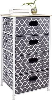 Homyfort Dresser Storage Tower 4 Drawer Chest, Fabric Tower Organizer Unit for Bedroom, Closet, Dorm, Entryway, Hallway, Nursery Room