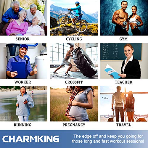 CHARMKING Compression Socks Women & Men 15-20 mmHg is Best Graduated Athletic for Running, Flight Travel, Crossfit, Pregnant, Cycling - Boost Performance, Flexibility, Durability (S/M, Multi 06)