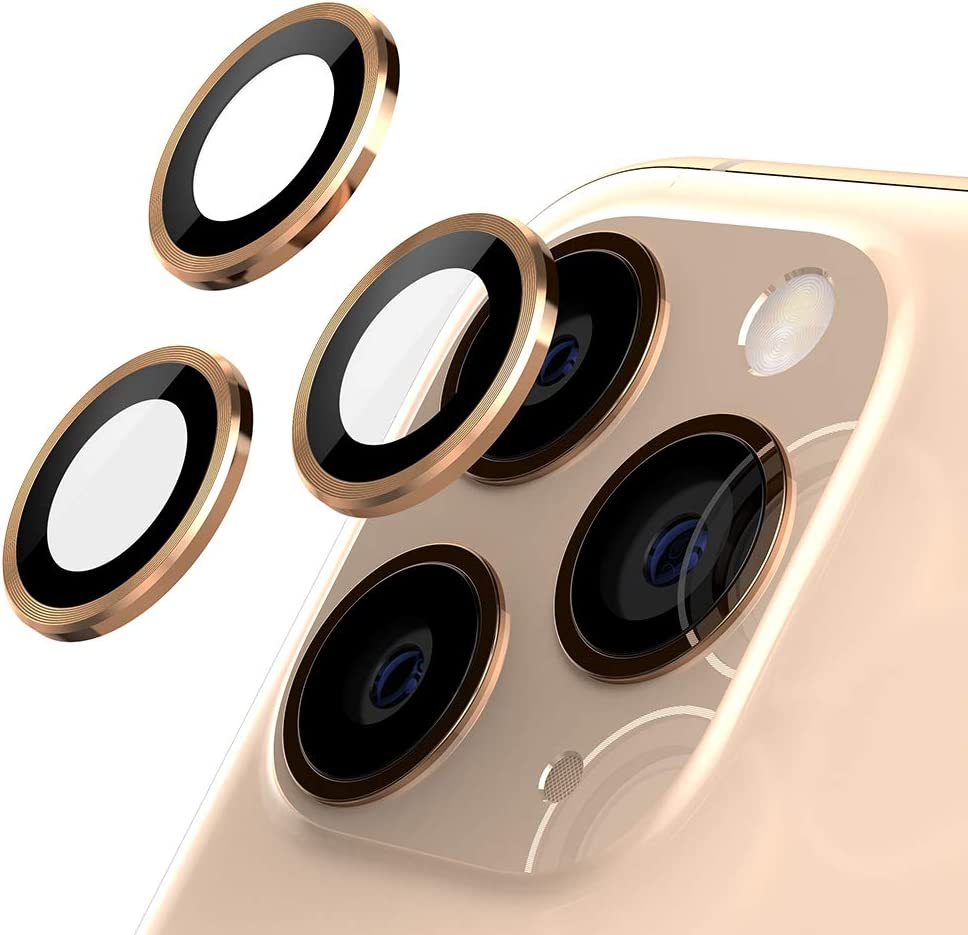 ETESTAR iPhone 11 Pro Max Camera Lens Protector, Metal Lens Cover Glass Ring Film Coverage Dust Proof Anti-Scratch Case Friendly for iPhone 11 6.1'' / 11 Pro 5.8''/ 11 Pro Max 6.5