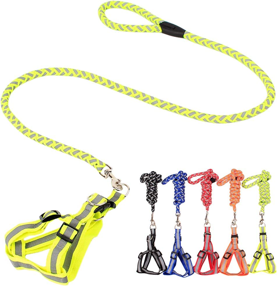 CHBORLESS Reflective Pet Dog Challenge the lowest price Leash Sale item Set R Harness Polyester Woven