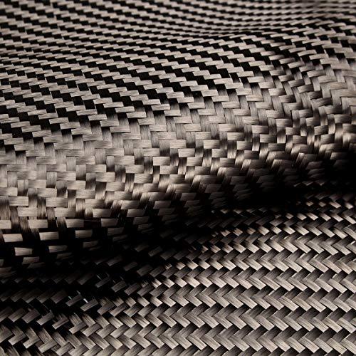 Tela de fibra de carbono de sarga 3182 cm 3K 2X2 200 g/m², tejido liso, acabado mate