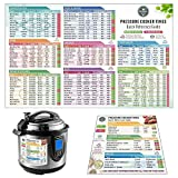 Instant Pot Cheat Sheet Magnet Set - Pressure Cooker Accessories (Large Font) Electric Pressure Cooker Times...