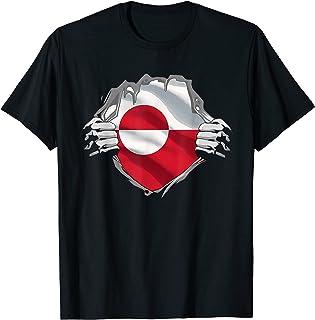 スーパーグリーンランダー ヘリテージシャツ グリーンランドルーツフラッグ ギフト Tシャツ