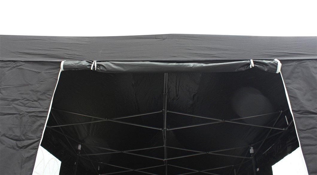 All Seasons Gazebos - Tienda de alta calidad de 3 x 6 m resistente, impermeable, revestida con PVC, con 4 paneles laterales 100% resistentes al agua con cremallera (misma calidad que el