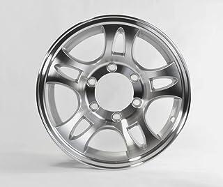 gloss Black Machined Aluminum Sendel Trailer Wheel 6x5.50 15x6 T16