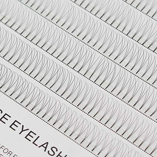 Professional 3D Eyelashes Individuals C Curl Thickness 0.10mm Individual Lashes False Eyelash Natural Soft Long Cluster Extension Length 8-16mm to Choose (13mm)