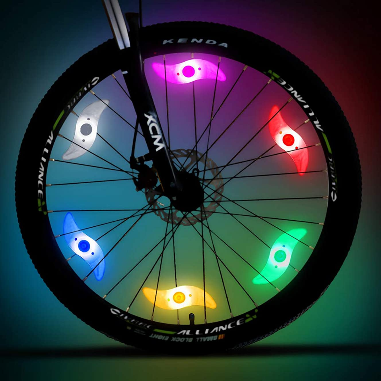 WINCENG Bike Spoke Light 6 Pack Led Bike Wheel Light with Batteries Included Plus 6 Extra CR2032 Batteries Cycling Bicycle Decoration