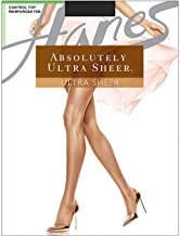 Hanes Women`s Set of 3 Absolutely Ultra Sheer Control Top Reinforced Toe