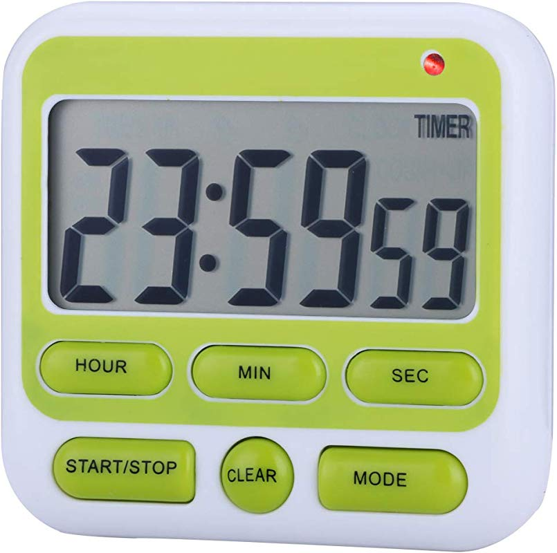 Zealforth Digital Kitchen Countdown Timer Clock 24 Hours Large Display Count Down Magnetic Timer With Alarm On Off