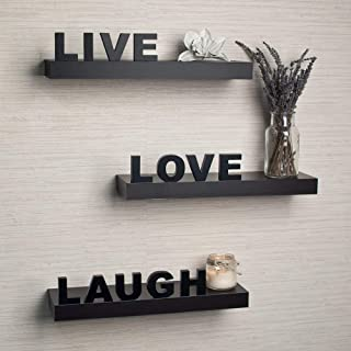 ART AND CRAFT INDIA Wooden Wall Shelf Live Love Laugh Home Decor Living Room Decor