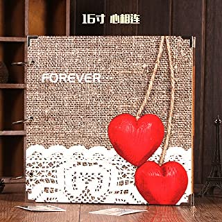Generic Red love : MOYLOR Q 16 Inch Paste Type Manual DIY Photo Album The Baby Lovers Albums on Valentine's Day Birthd...