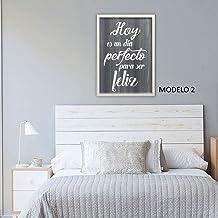 Cuadro decoración dormitorio, comedor personalizado con frase motivadora