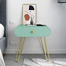 Mini Accent Table Bedside Furniture for Living Room Bedroom,Industrial Side Table with Hairpin Legs,Versatile Nightstand w...