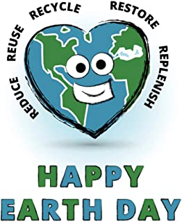 Happy Earth Day Go Green Reduce Reuse Recycle Restore Conservation Cool Wall Decor Art Print Poster 12x18