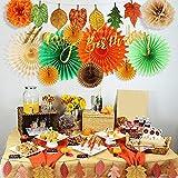 EASY JOY Geburtstag Dekoration Herbst Blätter Girlanden Party Deko Orange - 7