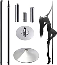 CLIENSY Portable Spinning Dancing Pole Professional 45mm Removable Dance Pole Kit for Party Pub Exercise Club Home Use