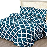 Utopia Bedding Printed Comforter Set (Queen, Teal) with 2 Pillow Shams - Luxurious Brushed Microfiber - Down Alternative Comforter - Soft and Comfortable - Machine Washable