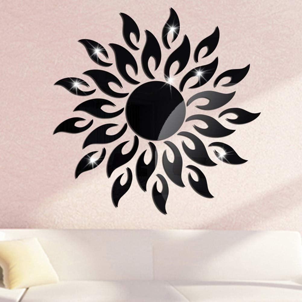 Ranking TOP4 MAKLYER Baltimore Mall Sun Flower 3D Mirror Pattern Stic Wall Stickers